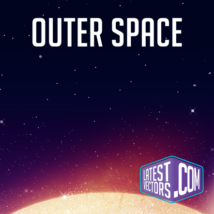 Outer space latest vectors for Outer space poster design